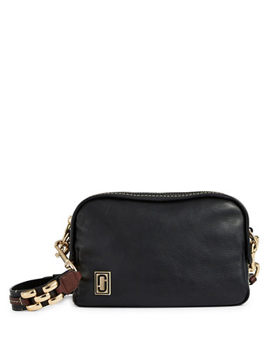 Marc Jacobs Softshot Camera Leather Crossbody-BLACK-One Size