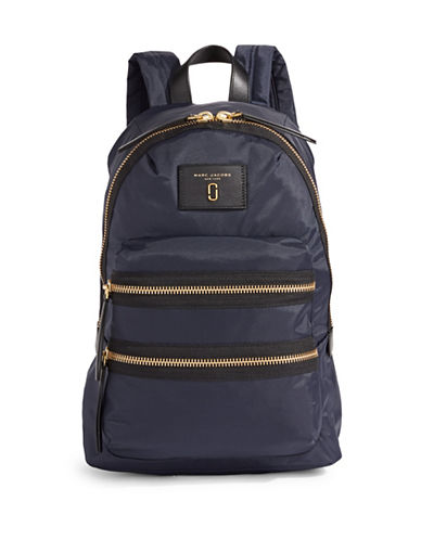 Marc Jacobs Nylon Biker Backpack-BLUE-One Size