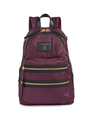 Marc Jacobs Nylon Biker Backpack-VIOLET-One Size