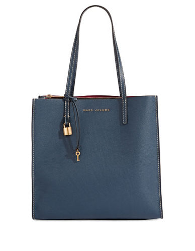 Marc Jacobs EW Leather Tote Bag-BLUE-One Size