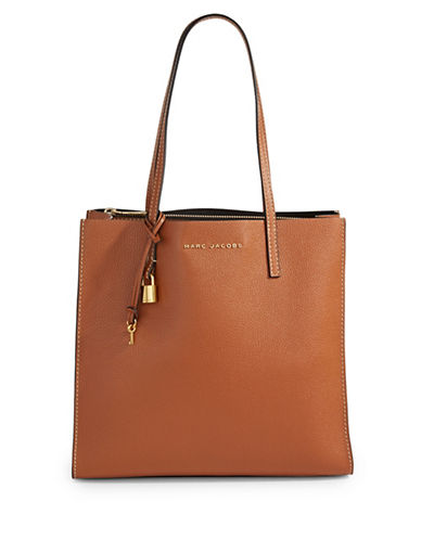 Marc Jacobs EW Leather Tote Bag-SADDLE-One Size
