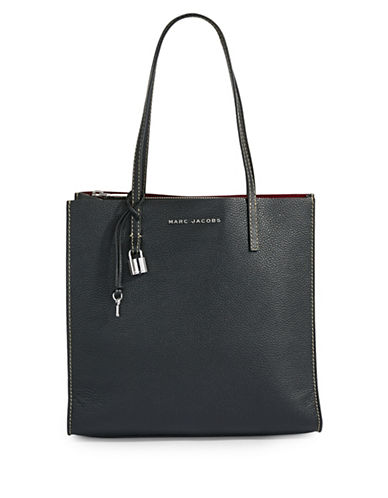 Marc Jacobs EW Leather Tote Bag-BLACK-One Size