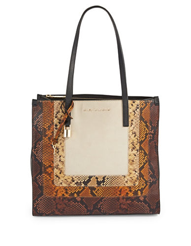 Marc Jacobs EW Snake Print Tote Bag-PAPYRUS-One Size
