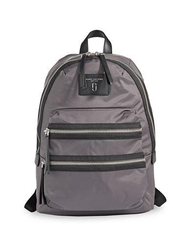Marc Jacobs Two-Way Zip Backpack-PEWTER-One Size