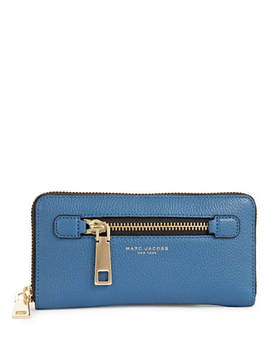 Marc Jacobs Standard Continental Leather Wallet-VINTAGE BLUE-One Size