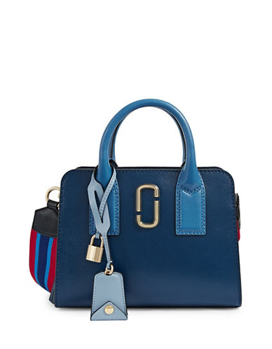 Marc Jacobs Little Big Shot Leather Bag-BLUE-One Size