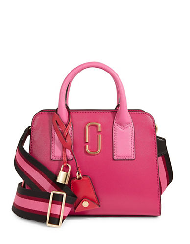 Marc Jacobs Little Big Shot Leather Bag-HIBISCUS-One Size