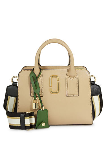 Marc Jacobs Little Big Shot Leather Bag-SANDCASTLE-One Size