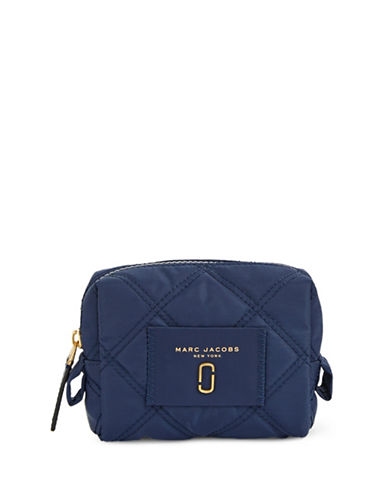 Marc Jacobs Medium Quilted Cosmetic Case-BLUE SEA-One Size