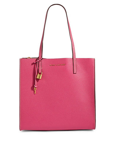 Marc Jacobs Grind Leather Tote-HYDRANGA-One Size
