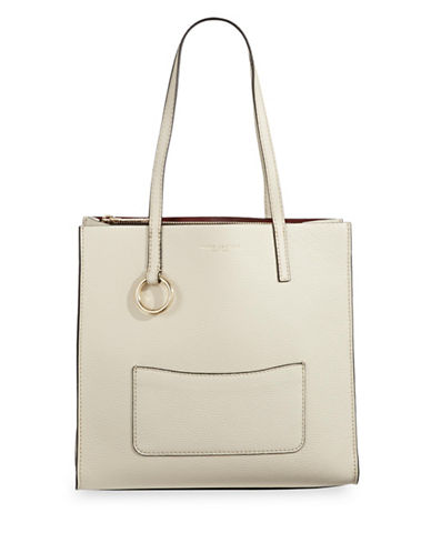 Marc Jacobs Pebbled Tote-NATURAL-One Size