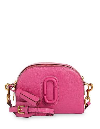 Marc Jacobs Leather Shutter Crossbody Bag-HYDRANGEA-One Size