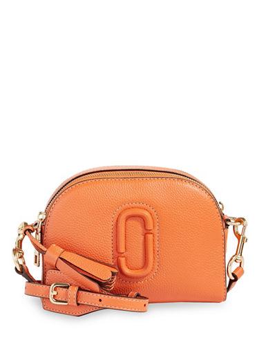 Marc Jacobs Shutter Leather Crossbody Bag-MANDARIN-One Size