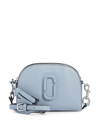 Marc Jacobs Leather Shutter Crossbody Bag-LIGHT BLUE-One Size