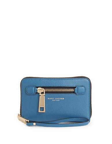 Marc Jacobs Gotham City Zip Phone Wristlet-VINTAGE BLUE-One Size