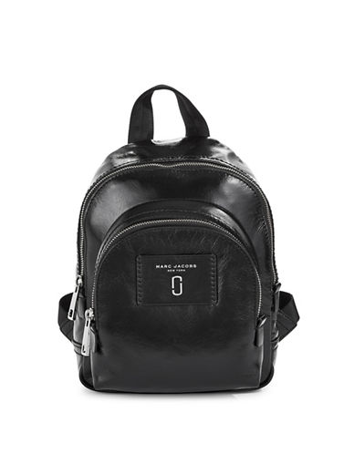 Marc Jacobs Mini Leather Backpack-BLACK-One Size