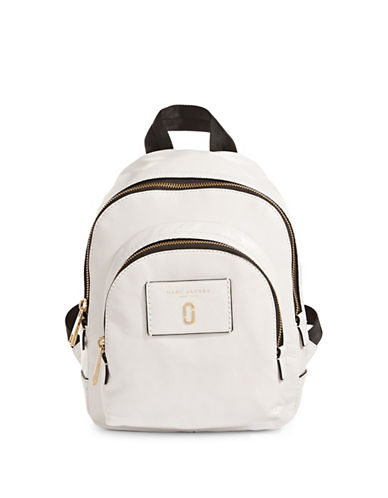 Marc Jacobs Mini Leather Backpack-WHITE GLOW-One Size
