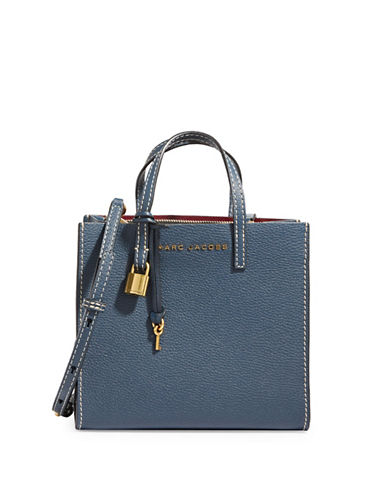Marc Jacobs Mini Grind Leather Tote-BLUE SEA-One Size