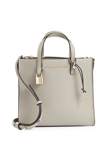 Marc Jacobs Mini Grind Leather Tote-GREY-One Size