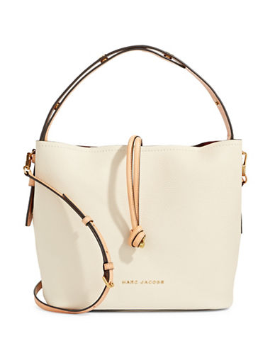 Marc Jacobs Toggle Leather Hobo Bag-WHITE-One Size