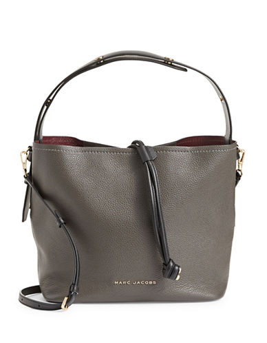 Marc Jacobs Toggle Leather Hobo Bag-GRAPHITE-One Size