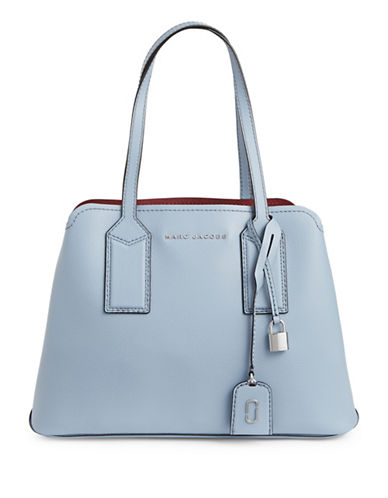 Marc Jacobs Editor Leather Tote-BLUE-One Size