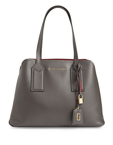 Marc Jacobs Editor Leather Tote-GREY-One Size