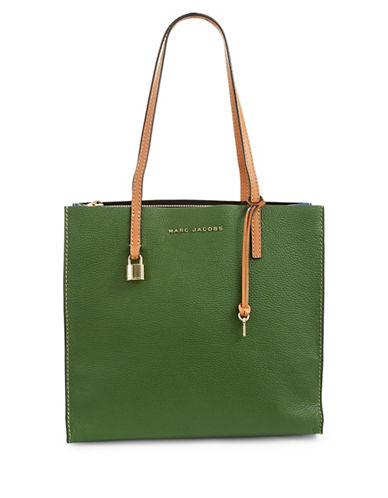 Marc Jacobs Little Big Shot Leather Bag-GREEN-One Size