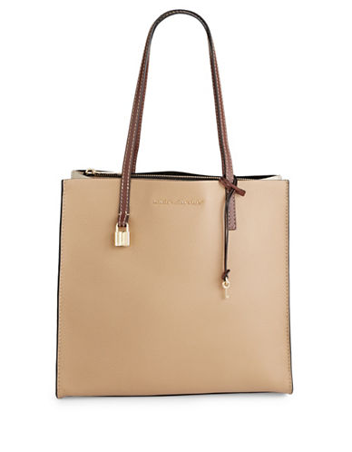 Marc Jacobs Little Big Shot Leather Bag-NATURAL-One Size