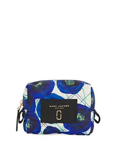 Marc Jacobs Floral Medium Cosmetic Case-BLUE MULTI-One Size