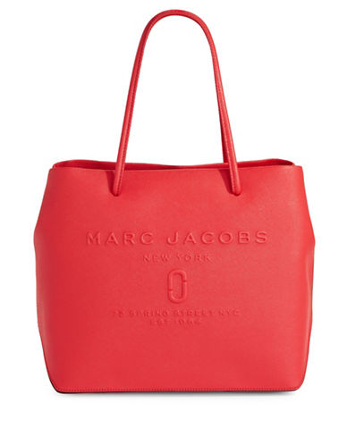 Marc Jacobs Logo Shopper Bag-RED PEPPER-One Size