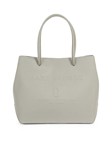 Marc Jacobs Logo Shopper Bag-GREY-One Size