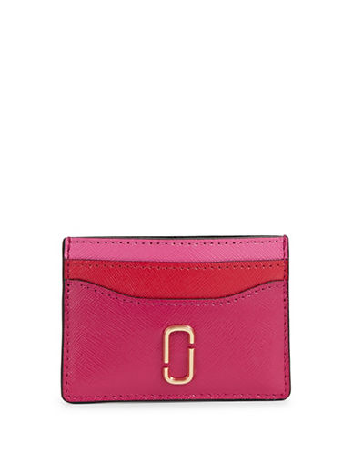 Marc Jacobs Tri-Tone Leather Card Case-PINK-One Size