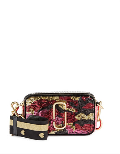 Marc Jacobs Snapshot Camo Crossbody Bag-PINK MULTI-One Size
