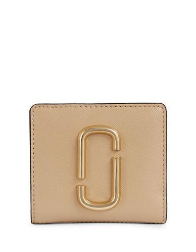 Marc Jacobs Leather Bi-Fold Wallets-BEIGE-One Size