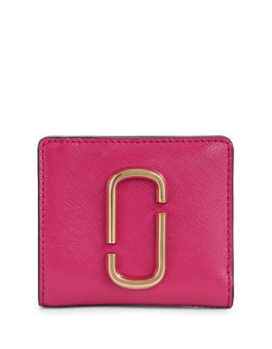 Marc Jacobs Leather Bi-Fold Wallets-PINK-One Size