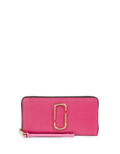 Marc Jacobs Leather Continental Wallet-RED-One Size