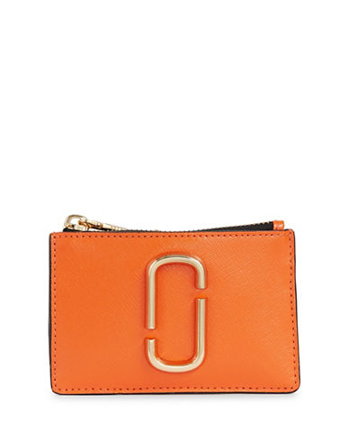 Marc Jacobs Leather Multi-Snap Wallet-ORANGE-One Size