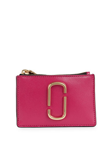 Marc Jacobs Leather Multi-Snap Wallet-PINK-One Size