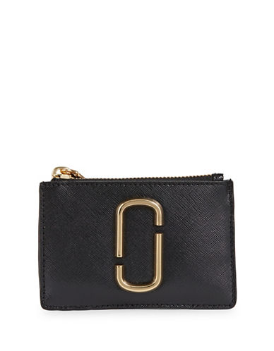 Marc Jacobs Leather Multi-Snap Wallet-BLACK-One Size