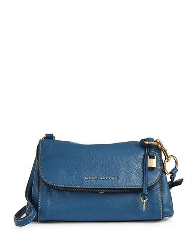 Marc Jacobs Boho Grid Leather Crossbody Bag-VINTAGE BLUE-One Size