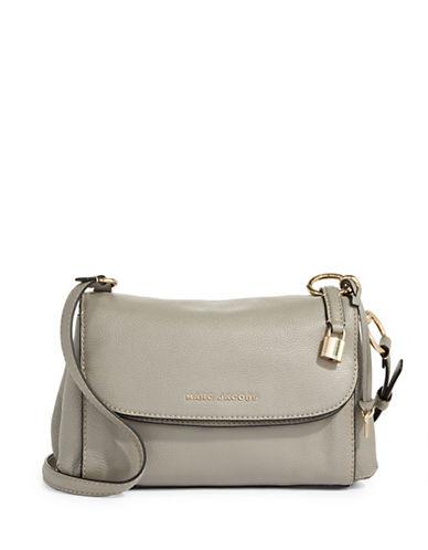 Marc Jacobs Boho Grid Leather Crossbody Bag-GREY-One Size