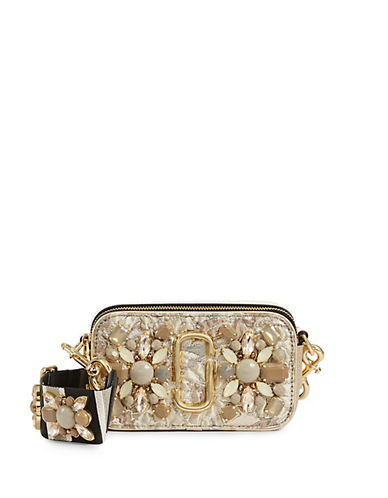 Snapshot Leather Embellished Crossbody Bag by Marc Jacobs