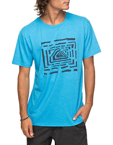Quiksilver Husky Lines Tee-BLUE-Small