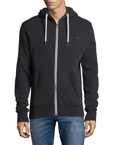 Superdry Fleeceback Hoodie-BLUE-Small