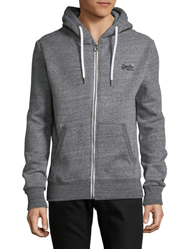 Superdry Fleeceback Hoodie-GREY-Small