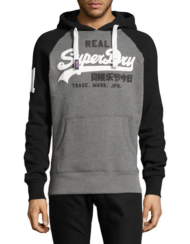 Superdry Raglan Logo Hoodie-BLACK-Medium 89235072_BLACK_Medium