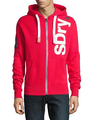 Superdry Logo-Print Zip-Front Hoodie-RED-Large 89207023_RED_Large