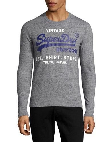 Superdry Vintage Tee Shirt Store T-Shirt-GREY-XX-Large