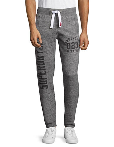 Superdry Trackster Text Jogging Pants-GREY-Small 89081031_GREY_Small